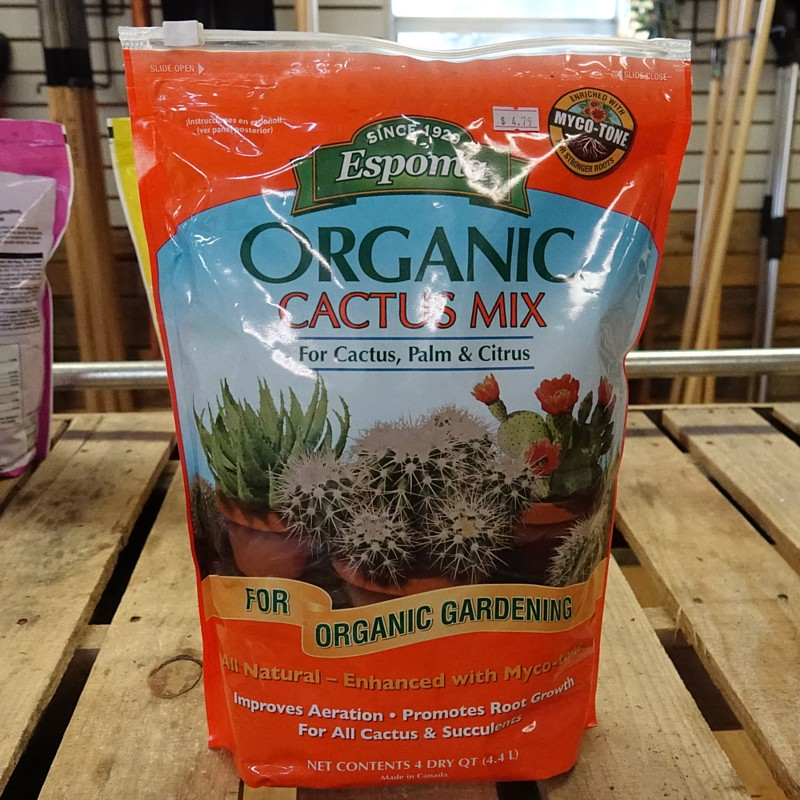 Organic Cactus Mix - For Cactus, Palm & Citrus. For Organic Gardening.